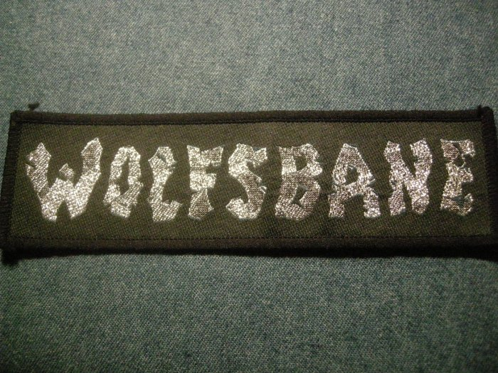 WOLFSBANE sew-on PATCH silver logo iron maiden IMPORT