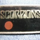 THE SCORPIONS PINBACK BUTTON japan logo VINTAGE