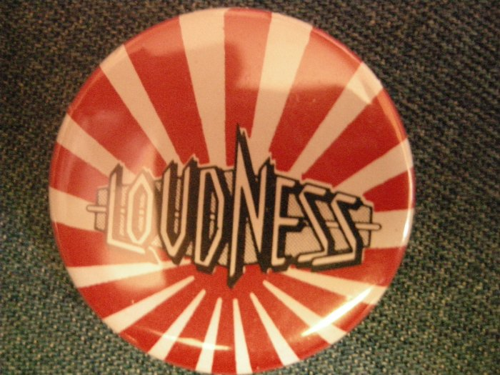 LOUDNESS PINBACK BUTTON Thunder in the East japan HTF!