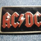 AC/DC PINBACK BUTTON red logo acdc VINTAGE