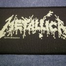 METALLICA sew-on PATCH green splatter logo VINTAGE