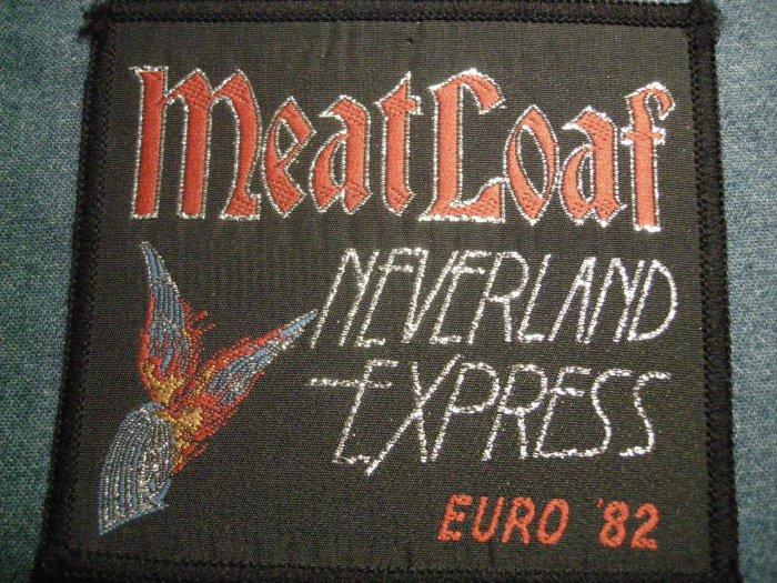 MEAT LOAF sew-on PATCH Neverland Express Europe Tour 82 meatloaf VINTAGE