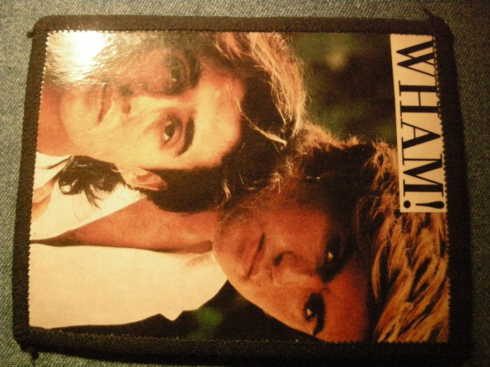 WHAM sew-on PATCH color photo george michaels VINTAGE 80s