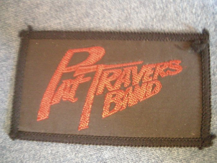 PAT TRAVERS BAND sew-on PATCH red logo VINTAGE