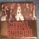 METAL CHURCH PINBACK BUTTON square band pic VINTAGE