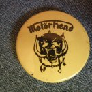 MOTORHEAD PINBACK BUTTON yellow warpig VINTAGE