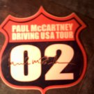 PAUL McCARTNEY STICKER Driving USA 2002 Tour beatles