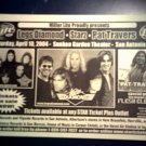 CONCERT FLYER Legs Diamond Starz Pat Travers texas