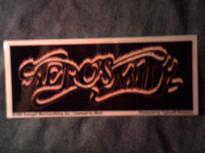 AEROSMITH STICKER gold logo SALE