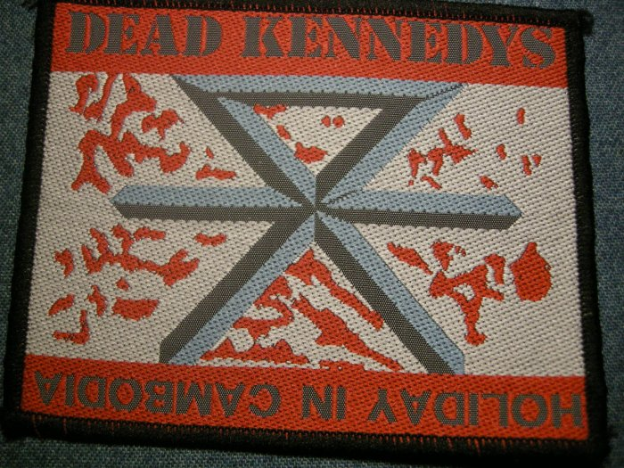 DEAD KENNEDYS sew-on PATCH Holiday in Cambodia punk IMPORT