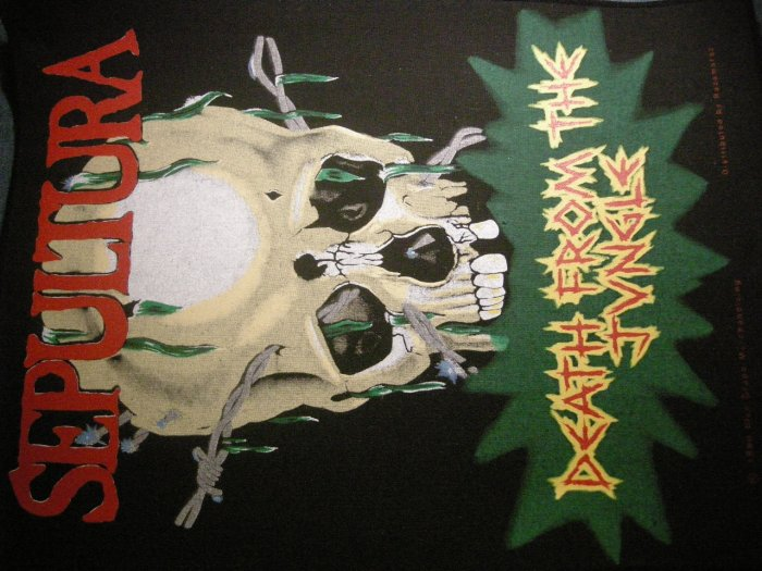 SEPULTURA BACKPATCH Death From the Jungle skull patch IMPORT