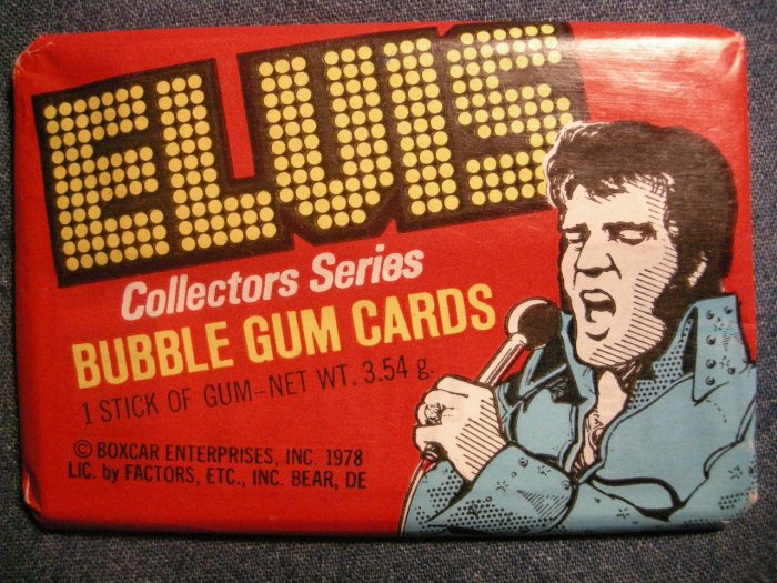ELVIS PRESLEY TRADING CARDS 1978 Boxcar bubble gum SEALED PACK!
