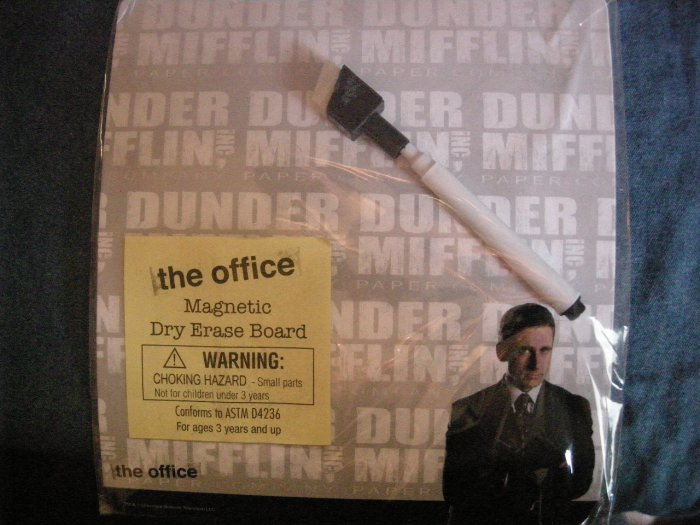 THE OFFICE DRY ERASE BOARD Michael Scott pic steve carell dunder mifflin NEW!