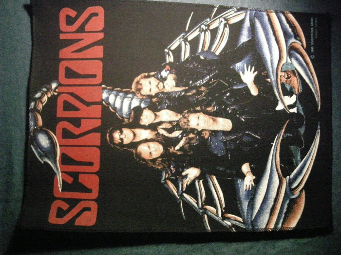 SCORPIONS BACKPATCH band on scorpion patch VINTAGE