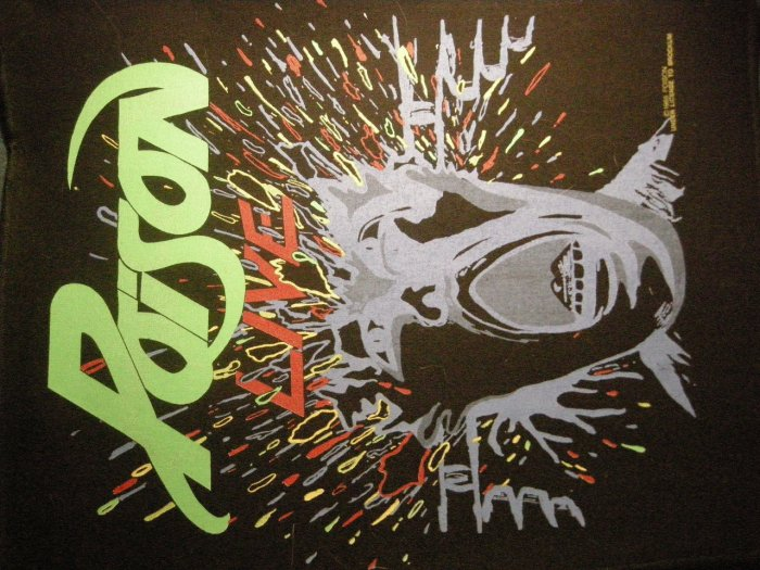 POISON BACKPATCH Live exploding head patch VINTAGE