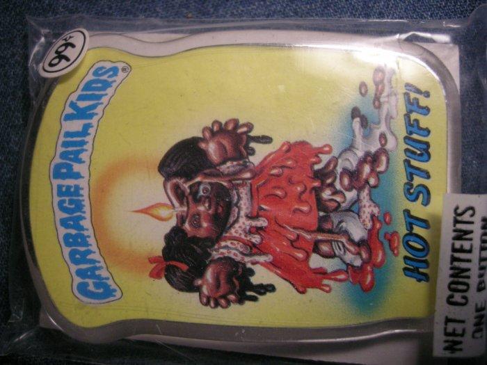 GPK PINBACK BUTTON Hot Stuff! garbage pail kids VINTAGE