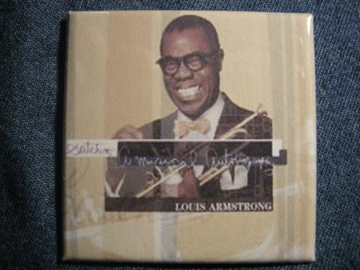 LOUIS ARMSTRONG MAGNET Satchmo jazz VINTAGE