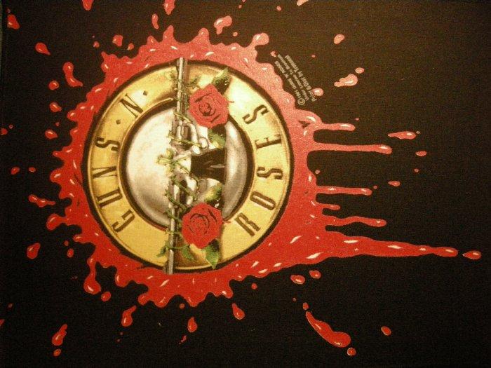 GUNS N ROSES BACKPATCH bloody bullet logo patch VINTAGE