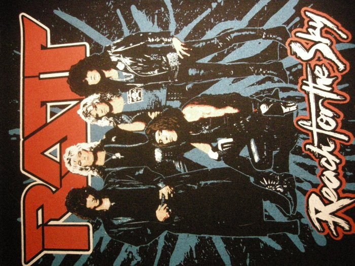 RATT BACKPATCH Reach For the Sky band pic patch VINTAGE