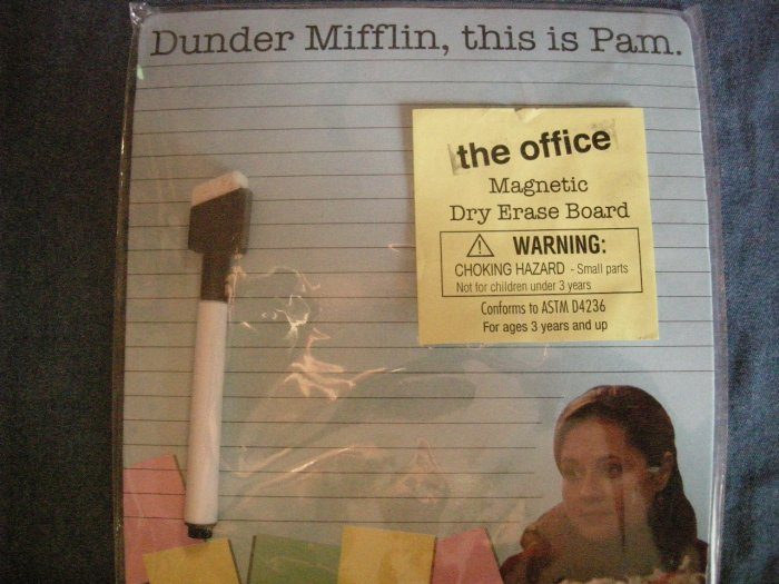 THE OFFICE DRY ERASE BOARD This is Pam jenna fischer dunder mifflin NEW!