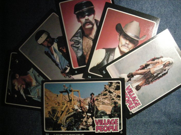 VILLAGE PEOPLE TRADING CARDS 1979 Rock Stars LOT OF 6!