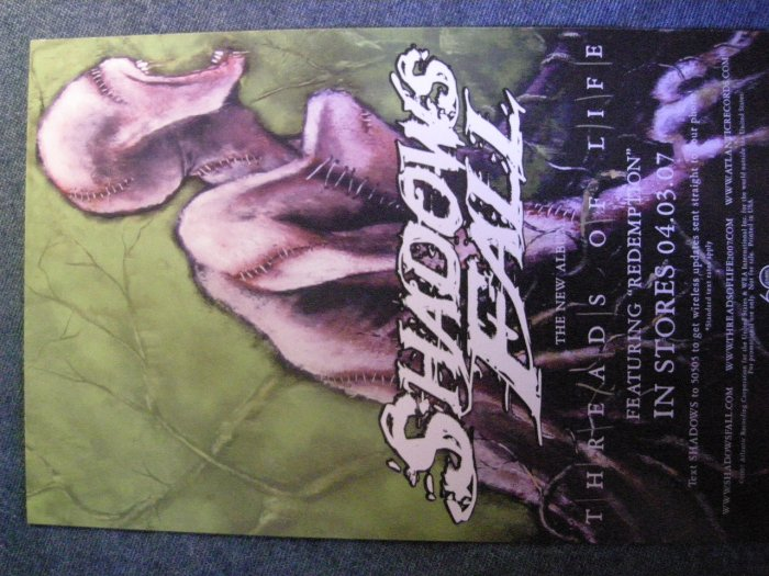 SHADOWS FALL POSTCARD Threads of Life PROMO SALE