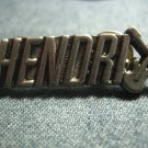 JIMI HENDRIX METAL PIN guitars logo badge VINTAGE
