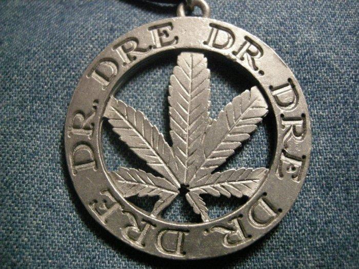 DR DRE METAL NECKLACE pot leaf rap IMPORT
