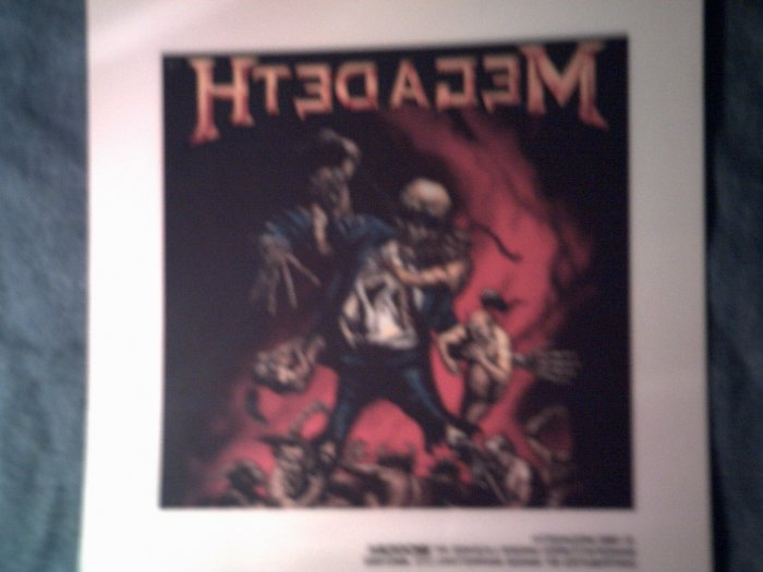 MEGADETH DECAL not STICKER vic in hell art VINTAGE