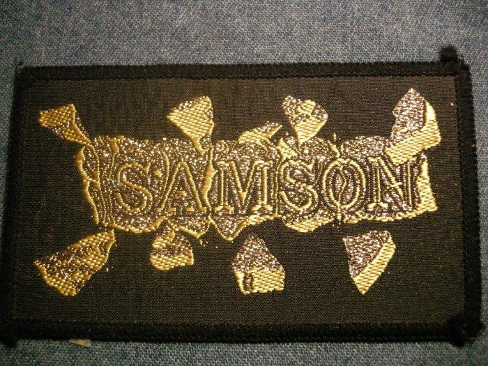 SAMSON sew-on PATCH gold logo iron maiden VINTAGE