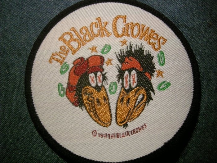 THE BLACK CROWES sew-on PATCH crow bros round VINTAGE