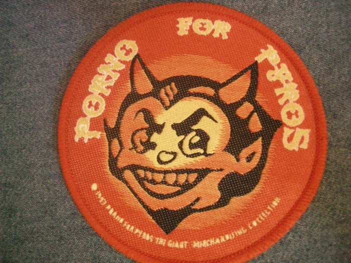 PORNO FOR PYROS sew-on PATCH devil logo janes addiction IMPORT