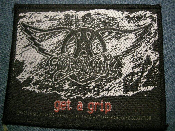 AEROSMITH sew-on PATCH Get a Grip logo IMPORT