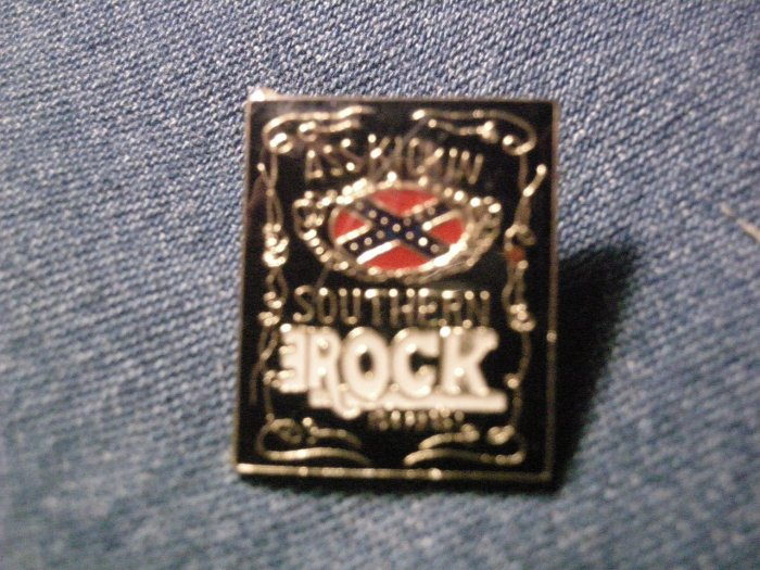 SOUTHERN ROCK TACK PIN Ass Kickin rebel button VINTAGE