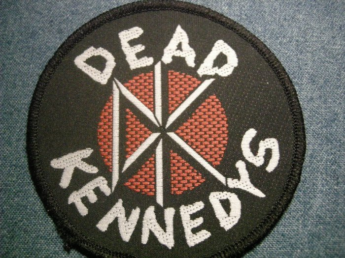 DEAD KENNEDYS sew-on PATCH round dk logo punk IMPORT