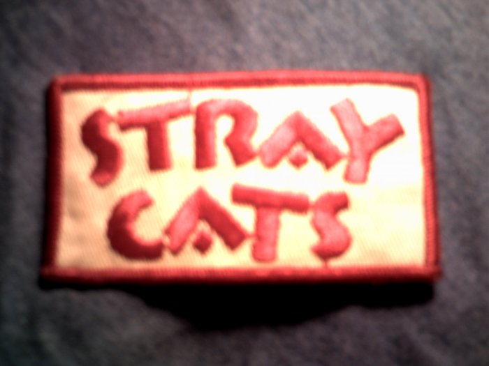 THE STRAY CATS iron-on PATCH logo brian setzer VINTAGE
