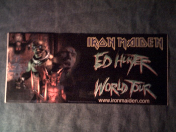IRON MAIDEN STICKER Ed Hunter World tour eddie HTF SCARCE!