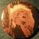 DEE SNIDER PINBACK BUTTON color pic twisted sister VINTAGE