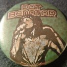 PAT BENATAR PINBACK BUTTON green headband pic VINTAGE 80s!
