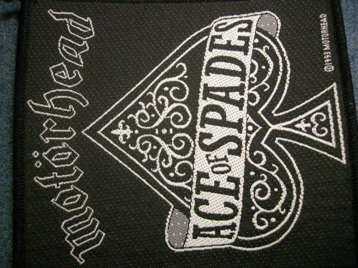 MOTORHEAD sew-on PATCH Ace of Spades logo VINTAGE