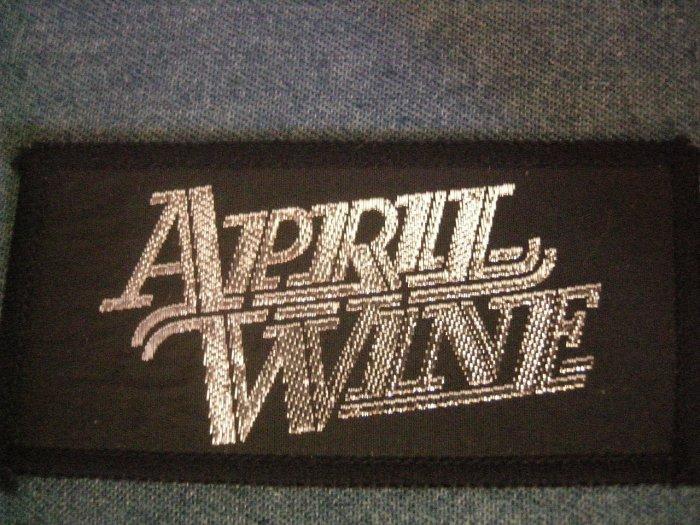 APRIL WINE sew-on PATCH silver logo VINTAGE