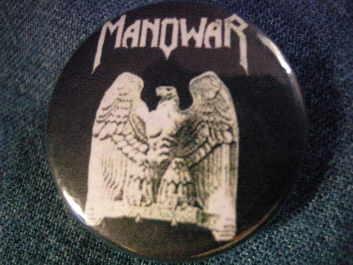 MANOWAR PINBACK BUTTON eagle logo
