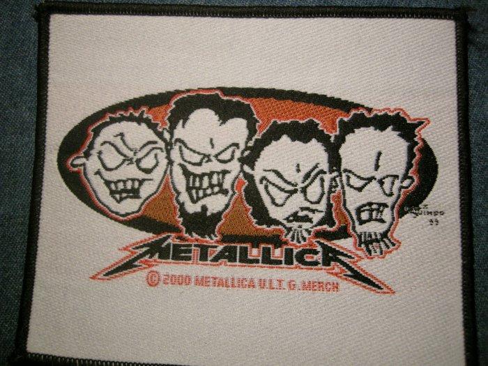 METALLICA sew-on PATCH metal heads logo jason newsted