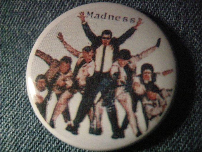 MADNESS PINBACK BUTTON band pic ska punk VINTAGE