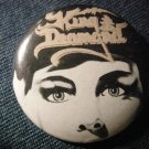 KING DIAMOND PINBACK BUTTON mercyful fate VINTAGE