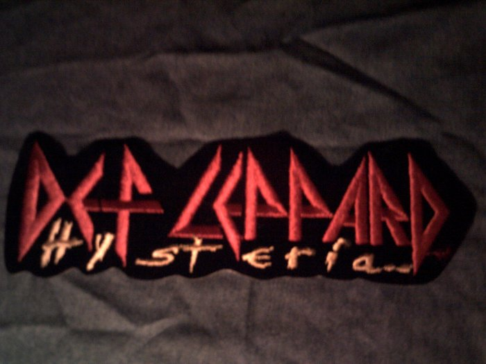 DEF LEPPARD iron-on PATCH Hysteria logo VINTAGE JUMBO