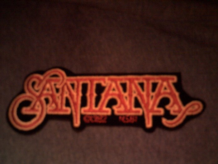 SANTANA iron-on PATCH red/yellow logo carlos VINTAGE