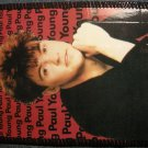 PAUL YOUNG sew-on PATCH color photo VINTAGE 80s