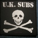 U.K. SUBS sew-on PATCH skull crossbones logo punk uk IMPORT