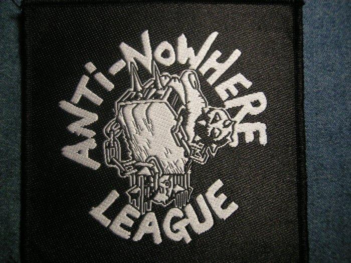 ANTI-NOWHERE LEAGUE sew-on PATCH fist logo punk IMPORT
